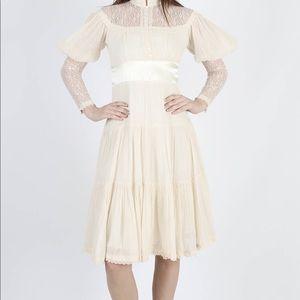 Vintage 70s gunne sax boho dress